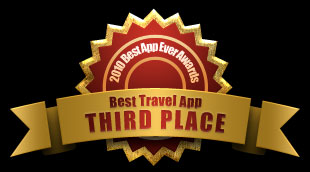 Third place: Best Travel App, 2010 Best App Ever Awards